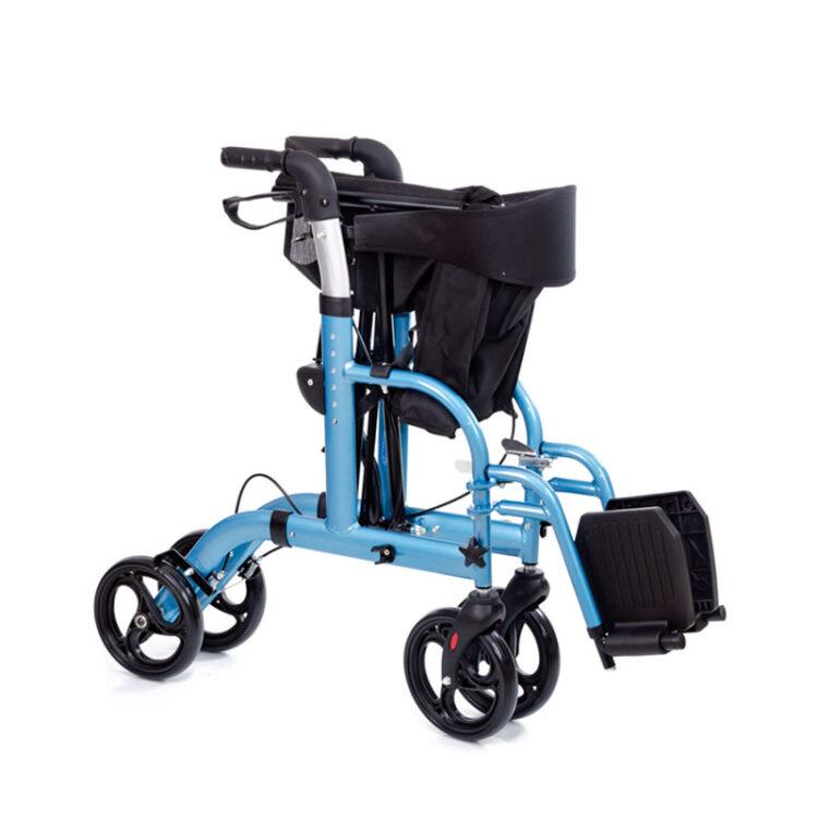 Lüks Ayak Pedallı Alüminyum Rolatör Comfort Plus BZ9124A
